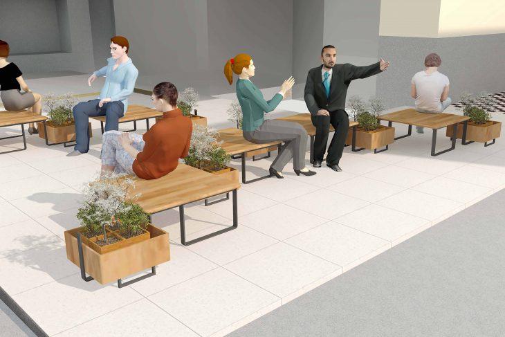「Connect・Plant〜仮設S.F.システムの提案」 イメージパース