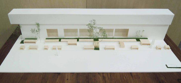 「リニアポケットパーク」 野村證券自由が丘支店横空間への提案