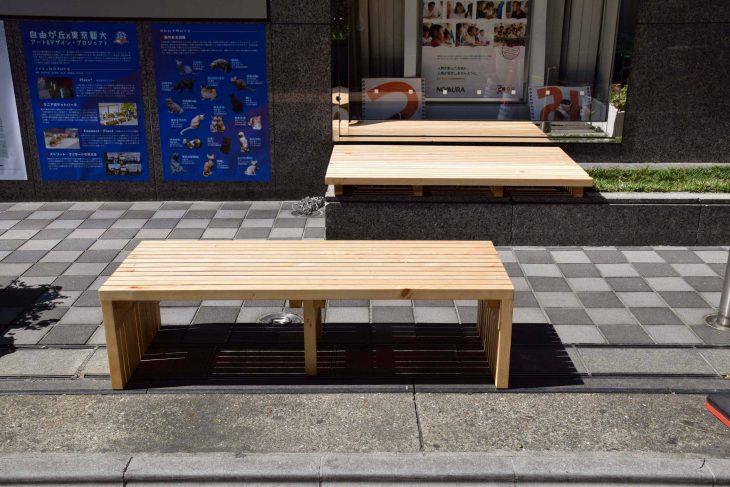 「リニアポケットパーク」 ベンチ設置により違法駐輪が減るかどうかの社会実験