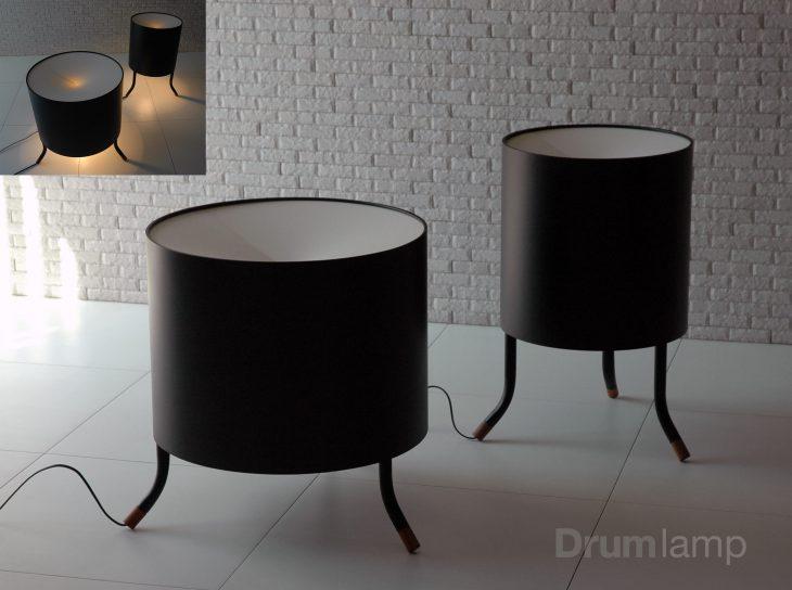 デザインを手がけた《くらしのあかり:Drum lamp》(2017)